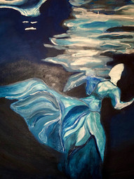 Marielle Dibbini Drowning in a DreamAcrylic paint  Bronxville High SchoolCourtney Alan 16 x 20 inches