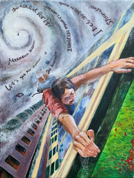 Angela Cao Hurricane Acrylic, markers, chalkBriarcliff High SchoolRoxanne Ritacco 11 x 14 inches