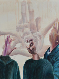 Emily Jang Family Portrait Acrylic on canvas Edgemont High School Ms. Adrianne Amorosa 24 x 36 inches