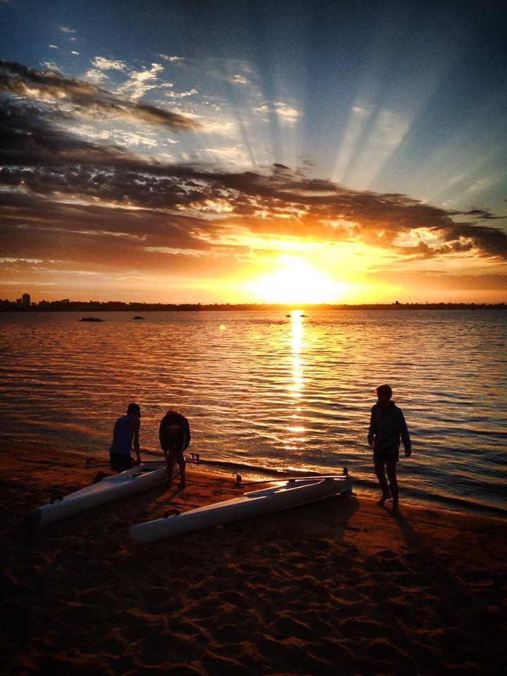 Crepuscular sunrise