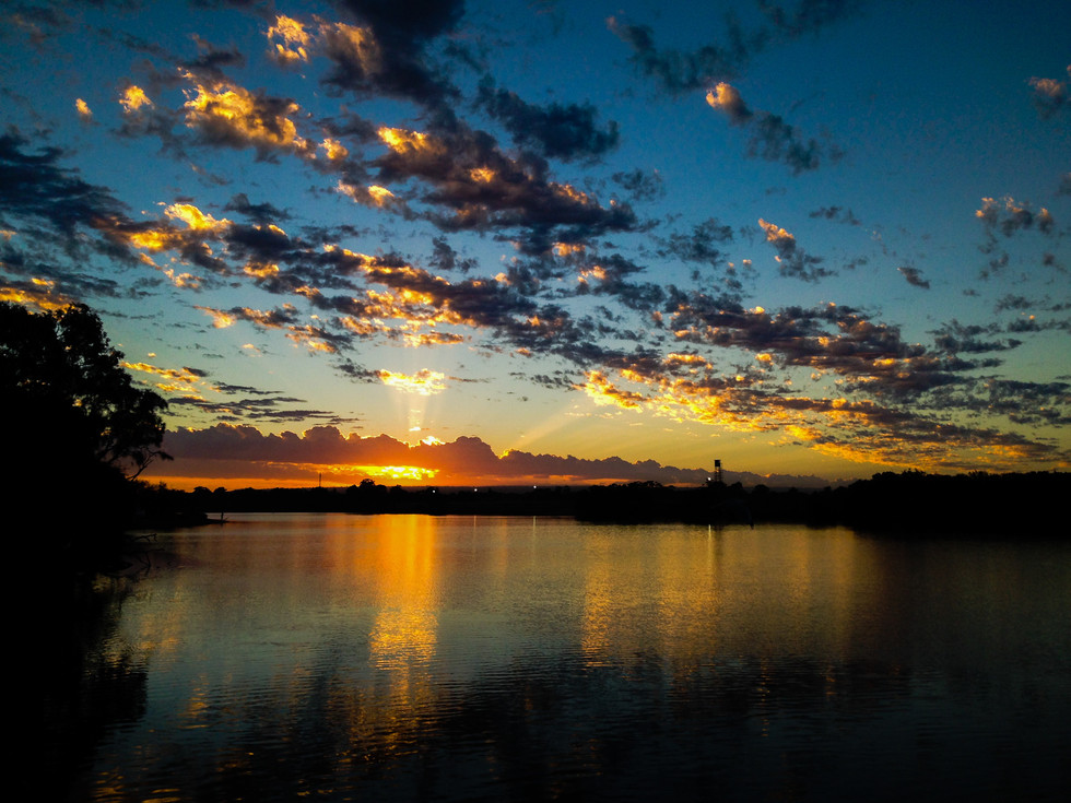Bold coloured dawn