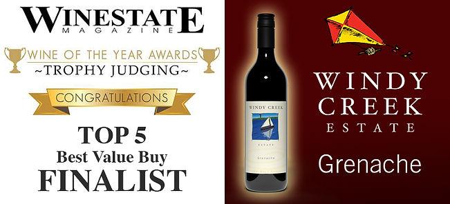 Winestate Magazine Best Value Buy Finalist