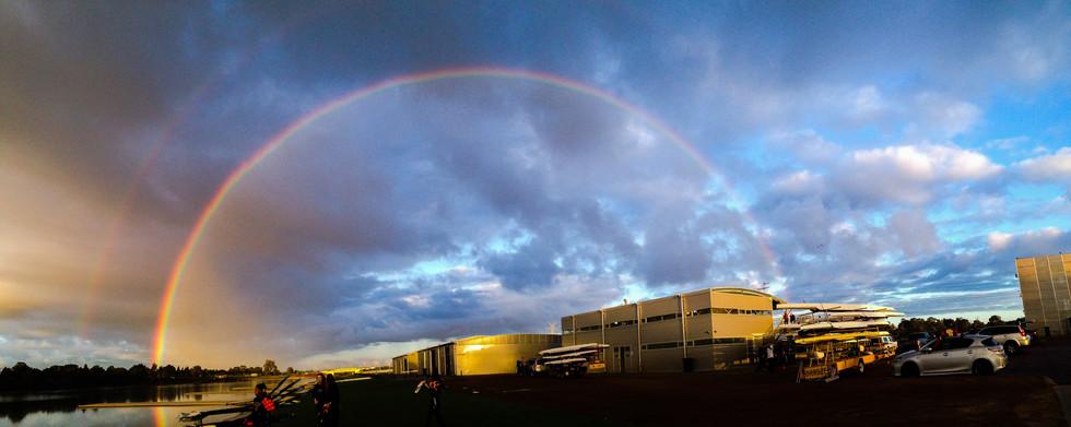 Rainbows over Champion Lakes