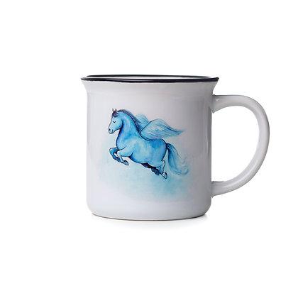 "Keramiktasse ""Pegasus"""