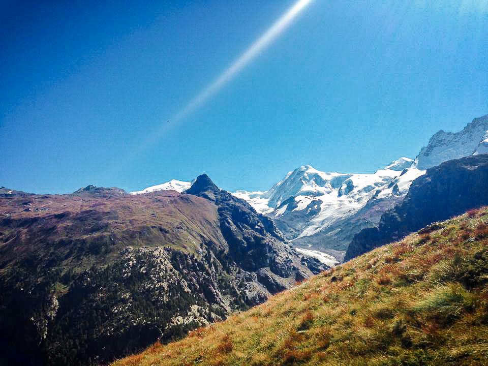 Swiss Alps mountains in Zermatt Switzerland