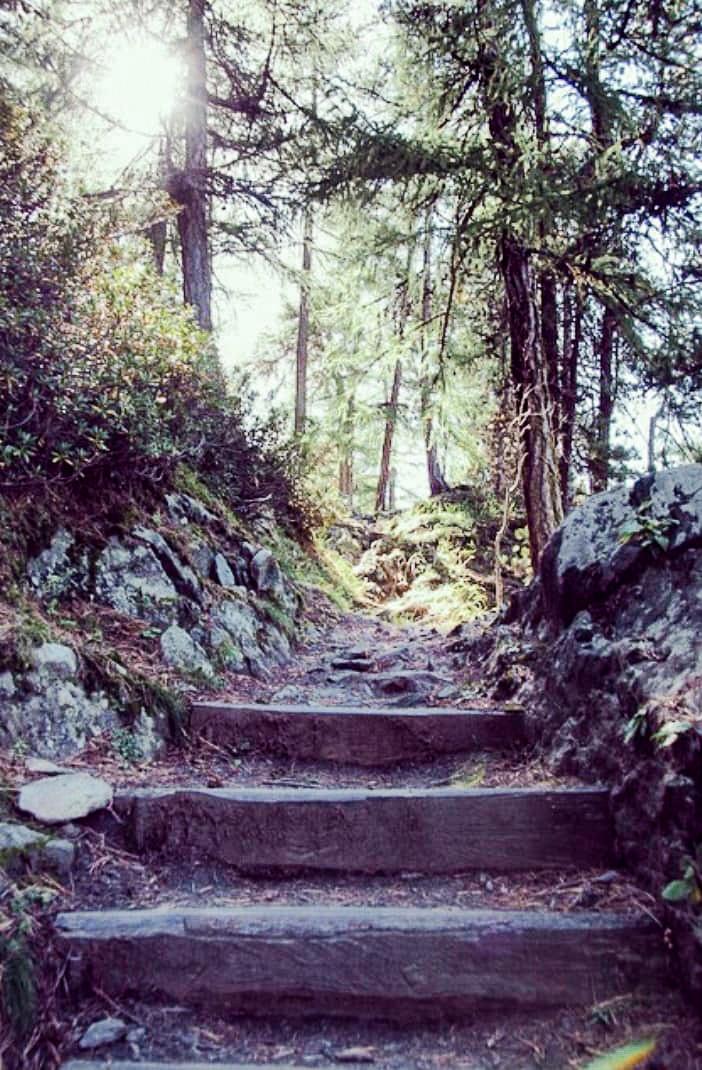 Hike in the swiss alps, Zermatt Switzerland, Gorner Gorge