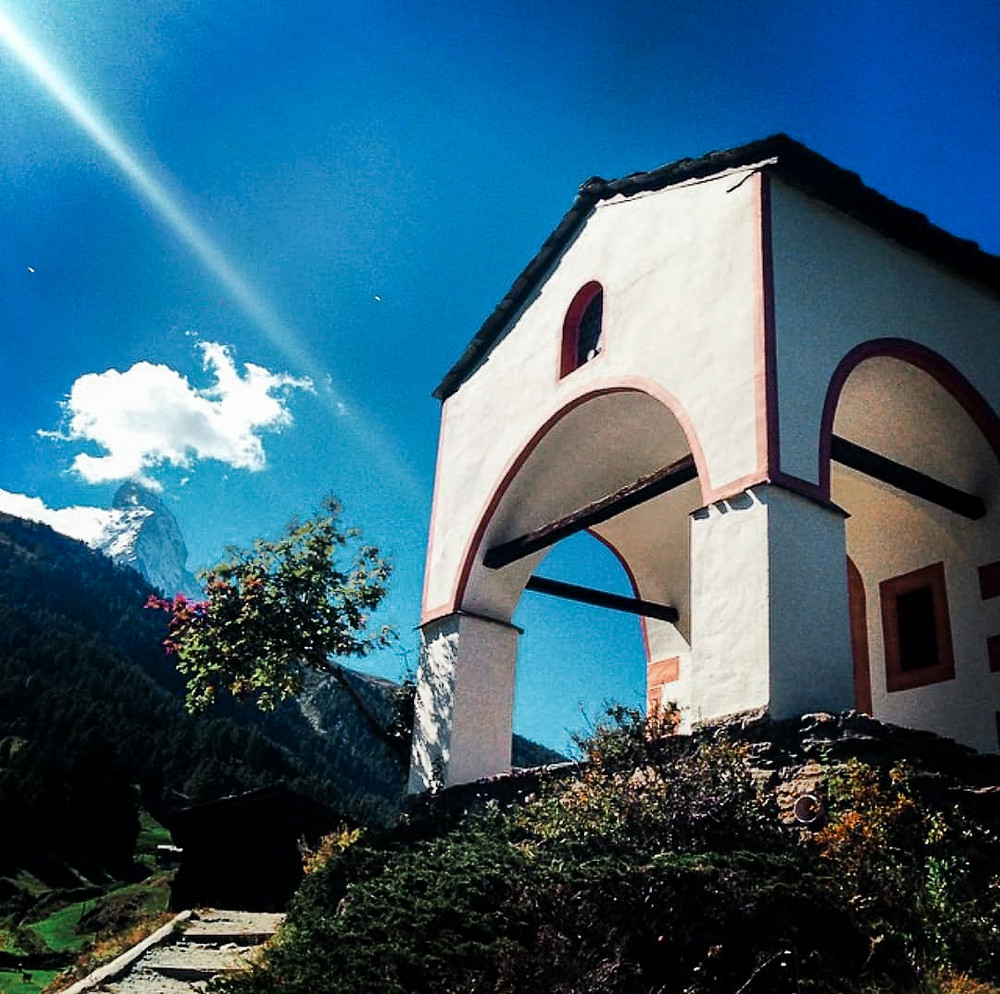 Swiss Church in Zermatt Switzerland, Alps