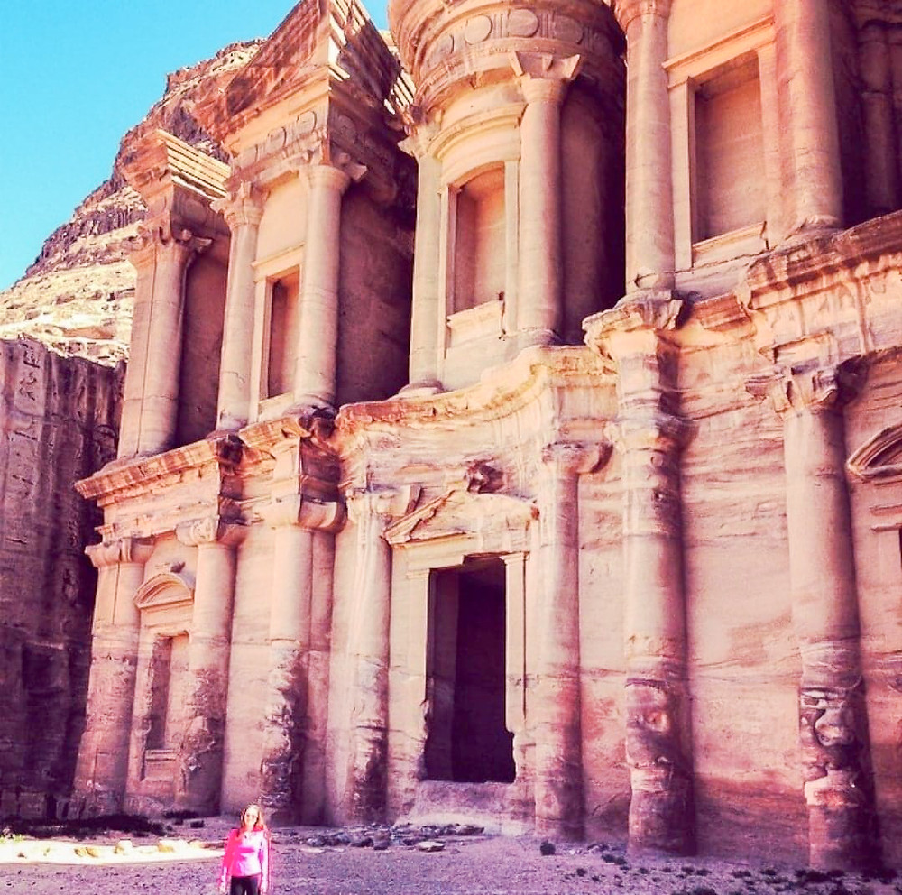 At the top of Petra, you'll find this beautiful Monastary