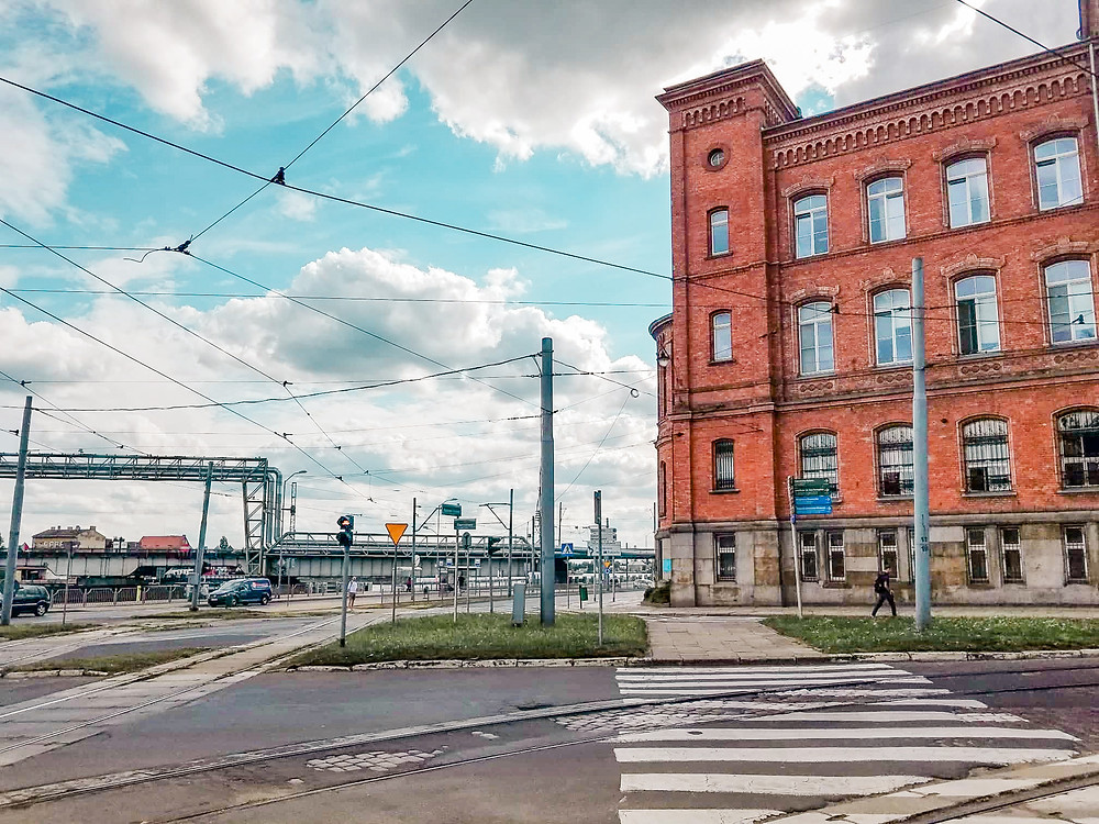 The Tram system in Szczecin, Poland, Old building