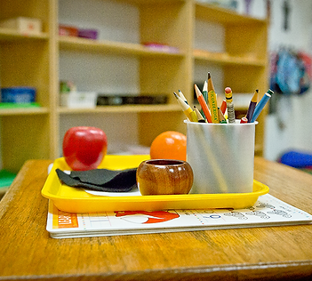 Learning tools in classroom at Montessori Learning Center