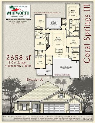 Coral Springs III floor plan