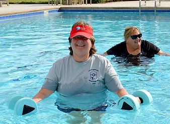 Pool activities and water weight aerobics