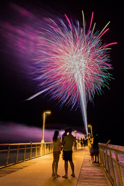 Fireworks on Okaloosa Island