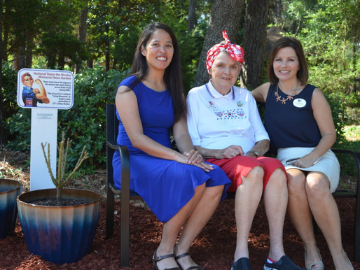 Rosie the Riveter Garden Dedicated at Bob Hope Village for Military Spouse Appreciation Day