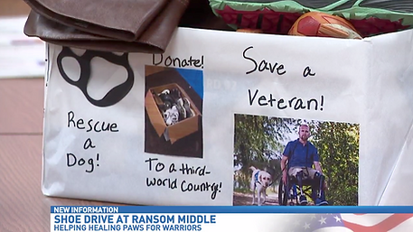 Ransom Middle School helps veterans with