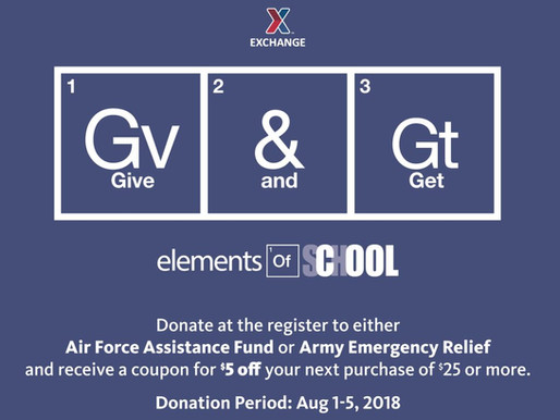 AAFES Hosts Give and Get Back to Support Military Relief Funds Aug 1