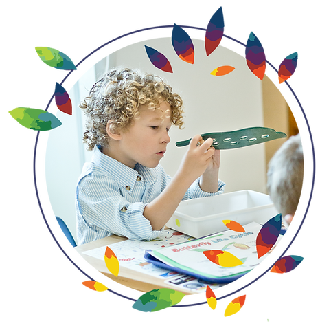 Children learning at Montessori Learning Center