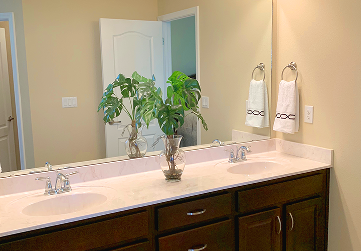 Navarre area bathroom-double sinks