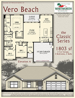 Vero Beach floor plan
