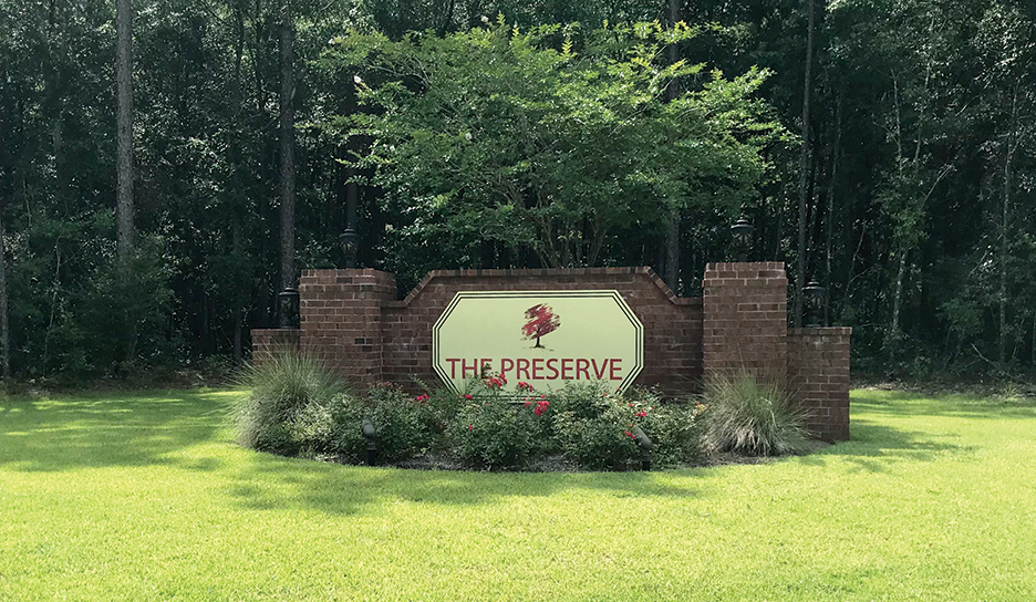 The Preserve Entrance Sign