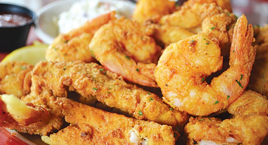 Fried Snapper N Shrimp
