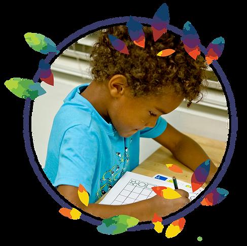 Child learning in Montessori's Primary Program