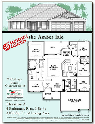 Amber Isle 50th Anniversary Floor Plan
