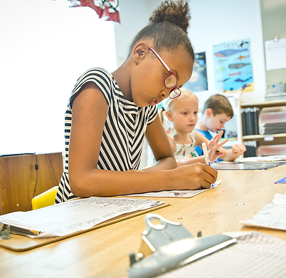 Student learning at Montessori Learning Center