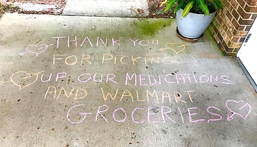 COVID-19 Sidewalk Chalk Thank You Messages