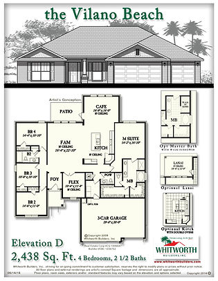 Vilano Beach D floor plan