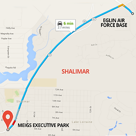 Map of Meigs Executive Park