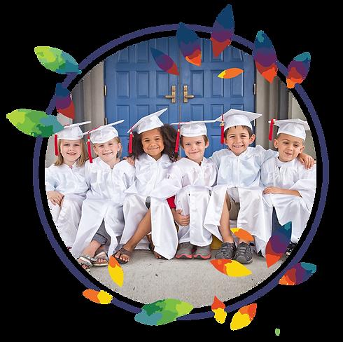 Graduating children at Montessori Learning Center