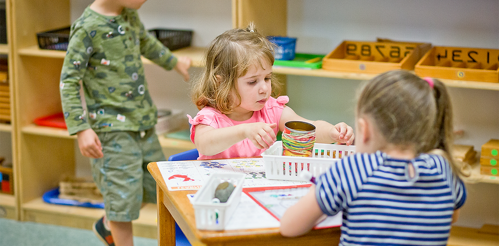Children learning at Montessori Learning Center