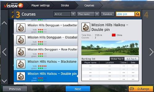 Golfzon 190 campi da golf