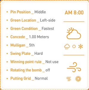 Golfzon Definizione Condizioni del Campo da Golf