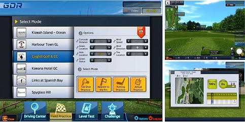 Golfzon GDR modalita di allenamento