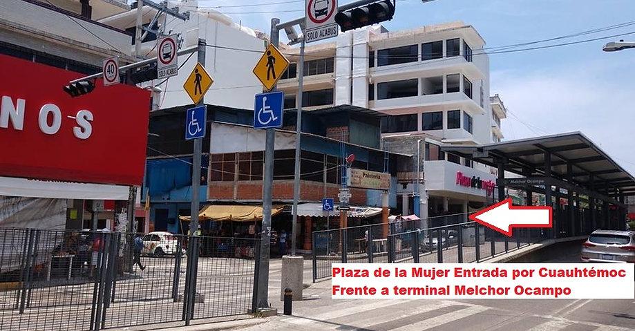 Plaza_de_la_Mujer_entrada_por_Cuauhtemoc