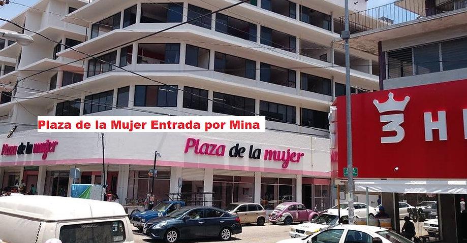 Plaza de la Mujer entrada por Mina letre