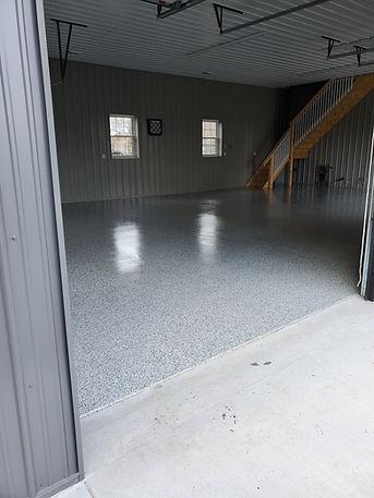 Pole Barn, Epoxy floor