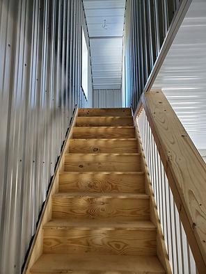 Interior stairs pole barn