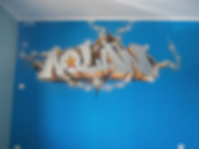 graffiti chambre , couleur graffiti