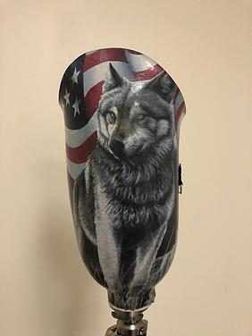 Patriotic Wolf