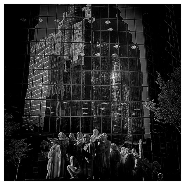 La foule illuminée, Oeuvre de l'artiste Raymon Masson (1922à 2002)