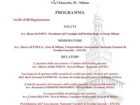 Presentazione ANCEG - Associazione Nazionale Curatori di Eredità Giacenti
