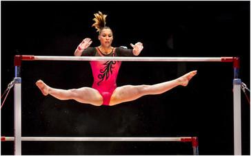 Gymnast in Flight