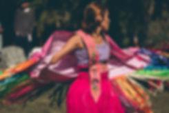 Female pow-wow dancer