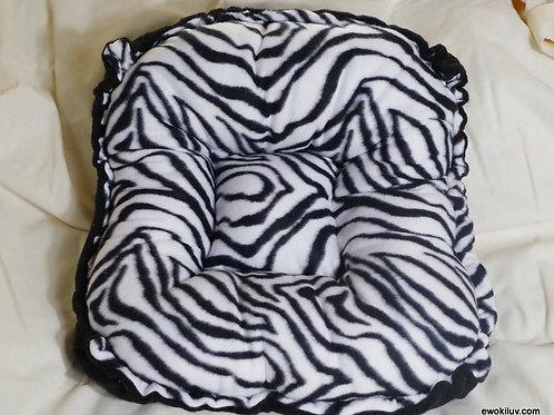 Zebra Print Puppy Bed-Fleece