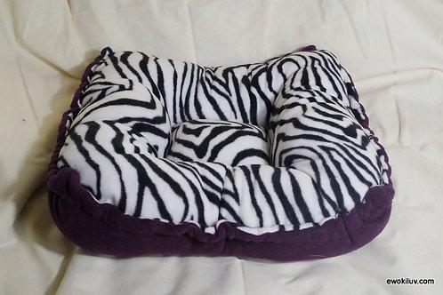 Zebra Print Puppy Bed- Fleece
