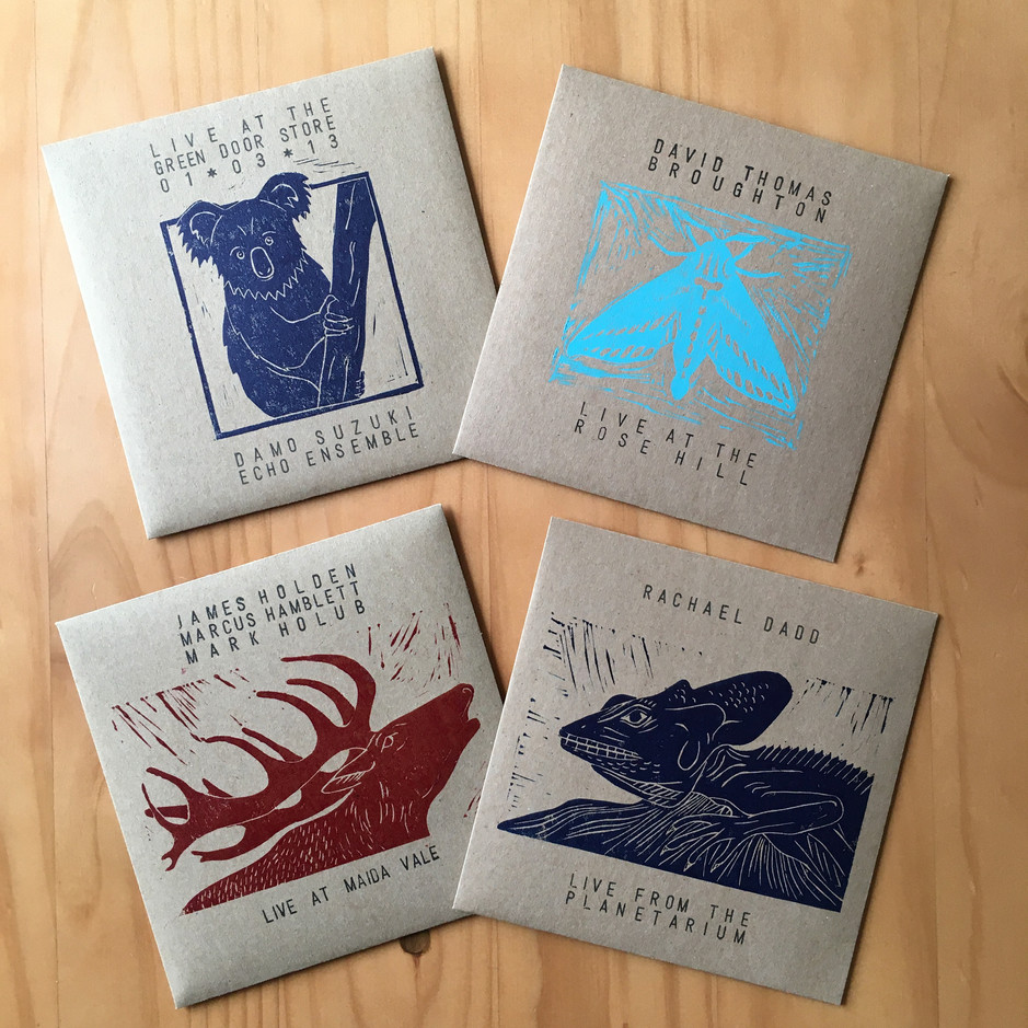 Series of covers for Willkommen Records releases