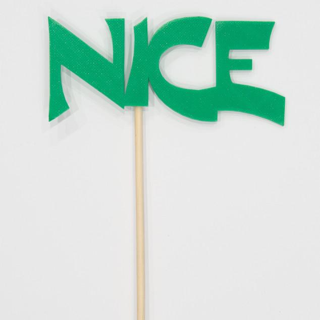 """Schriftzug """"Nice"""""""